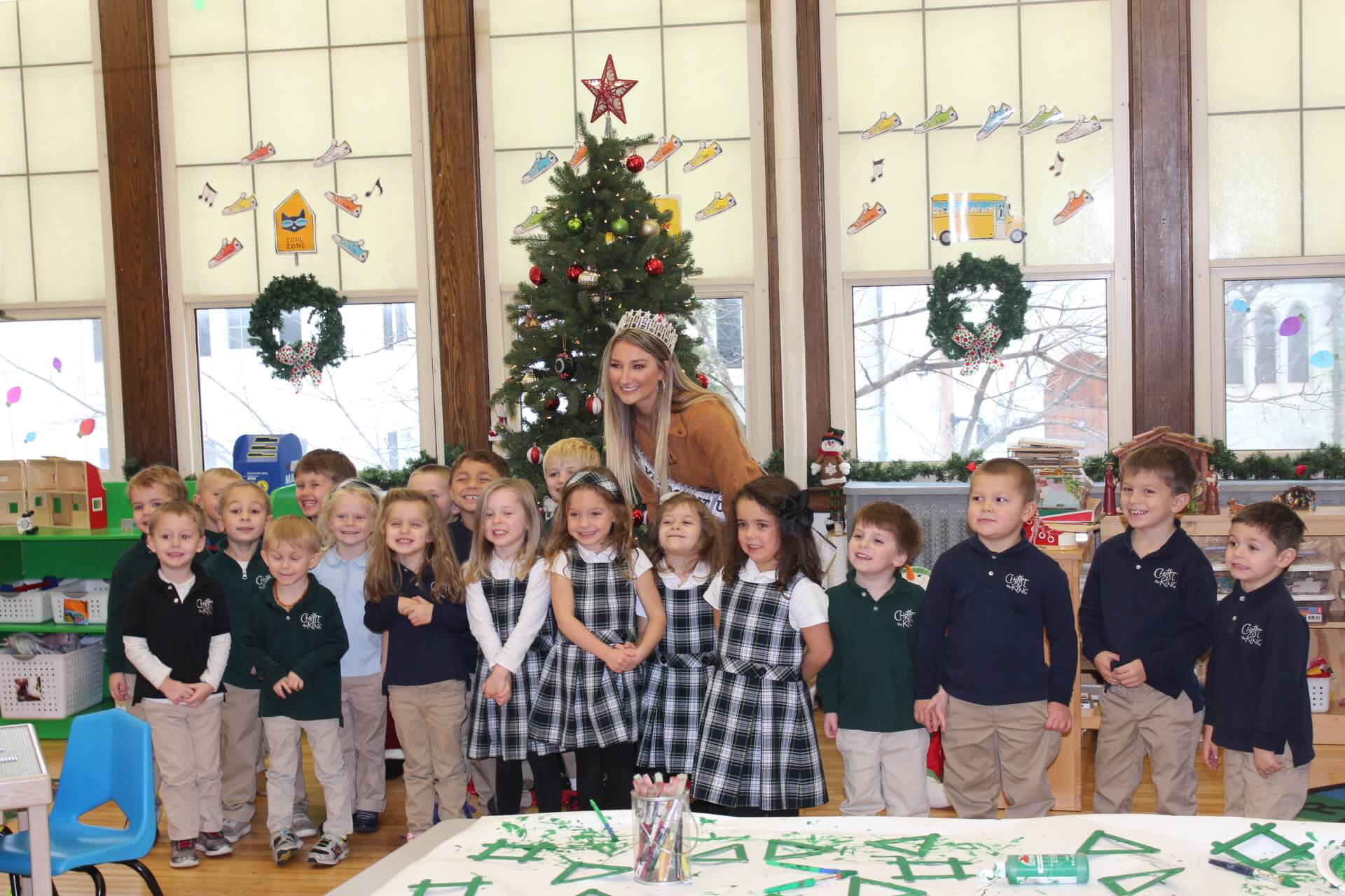 Christmas In Vermont 2019 Miss Vermont USA 2019 visits Christ the King School in Rutland